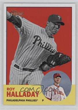 2012 Topps Heritage #91.2 - Roy Halladay (Image Swap)