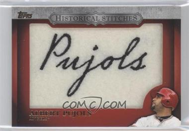2012 Topps Manufactured Historical Stitches #HS-AP - Albert Pujols