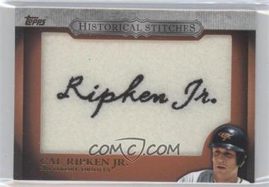 2012 Topps Manufactured Historical Stitches #HS-CR - Cal Ripken Jr.