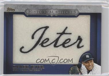 2012 Topps Manufactured Historical Stitches #HS-DJ - Derek Jeter