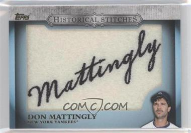 2012 Topps Manufactured Historical Stitches #HS-DM - Don Mattingly