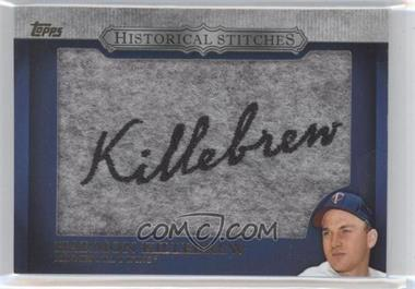 2012 Topps Manufactured Historical Stitches #HS-HK - Harmon Killebrew