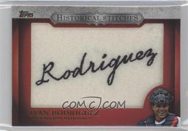 2012 Topps Manufactured Historical Stitches #HS-IR - Ivan Rodriguez