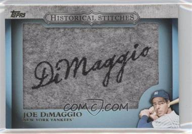 2012 Topps Manufactured Historical Stitches #HS-JD - Joe DiMaggio