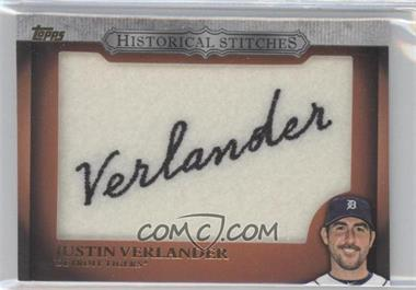 2012 Topps Manufactured Historical Stitches #HS-JV - Justin Verlander