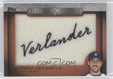 2012 Topps Manufactured Historical Stitches #HS-JV - Justin Verlander