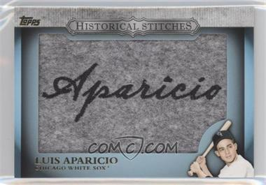 2012 Topps Manufactured Historical Stitches #HS-LA - Luis Aparicio