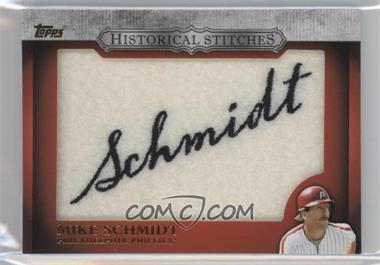 2012 Topps Manufactured Historical Stitches #HS-MS - Mike Schmidt