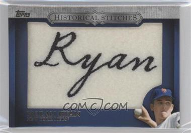 2012 Topps Manufactured Historical Stitches #HS-NR - Nolan Ryan