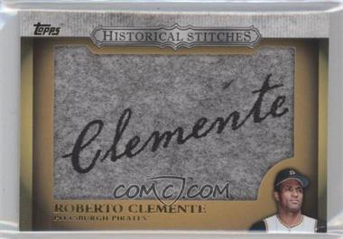 2012 Topps Manufactured Historical Stitches #HS-RC - Roberto Clemente