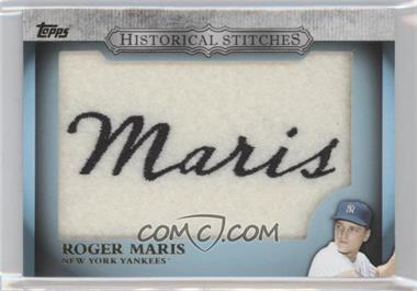 2012 Topps Manufactured Historical Stitches #HS-RM - Roger Maris