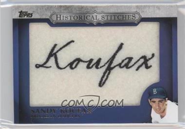 2012 Topps Manufactured Historical Stitches #HS-SK - Sandy Koufax