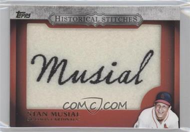 2012 Topps Manufactured Historical Stitches #HS-SM - Stan Musial