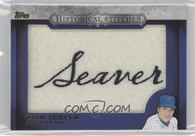 2012 Topps Manufactured Historical Stitches #HS-TS - Tom Seaver