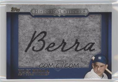 2012 Topps Manufactured Historical Stitches #HS-YB - Yogi Berra