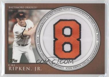 2012 Topps Manufactured Retired Number Patch #RN-CR - Cal Ripken Jr.