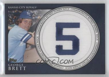 2012 Topps Manufactured Retired Number Patch #RN-GB - George Brett