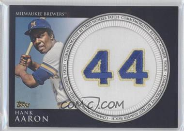 2012 Topps Manufactured Retired Number Patch #RN-HA - Hank Aaron