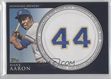 2012 Topps Manufactured Retired Number Patch #RN-HA.2 - Hank Aaron (Brewers)