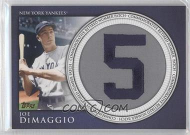 2012 Topps Manufactured Retired Number Patch #RN-JD - Joe DiMaggio