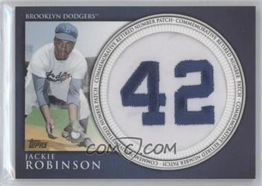 2012 Topps Manufactured Retired Number Patch #RN-JR - Jackie Robinson