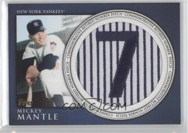 2012 Topps Manufactured Retired Number Patch #RN-MM - Mickey Mantle