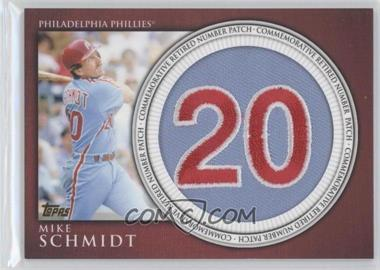 2012 Topps Manufactured Retired Number Patch #RN-MS - Mike Schmidt
