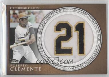 2012 Topps Manufactured Retired Number Patch #RN-RC - Roberto Clemente