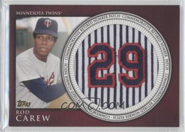 2012 Topps Manufactured Retired Number Patch #RN-RC - Rod Carew