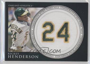 2012 Topps Manufactured Retired Number Patch #RN-RH - Rickey Henderson