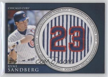 2012 Topps Manufactured Retired Number Patch #RN-RS - Ryne Sandberg