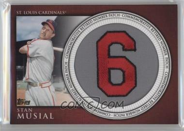 2012 Topps Manufactured Retired Number Patch #RN-SM - Stan Musial