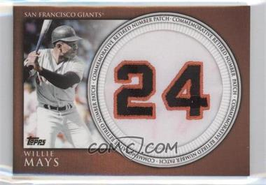 2012 Topps Manufactured Retired Number Patch #RN-WM - Willie Mays