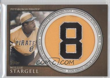 2012 Topps Manufactured Retired Number Patch #RN-WS - Willie Stargell