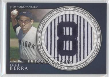 2012 Topps Manufactured Retired Number Patch #RN-YB - Yogi Berra