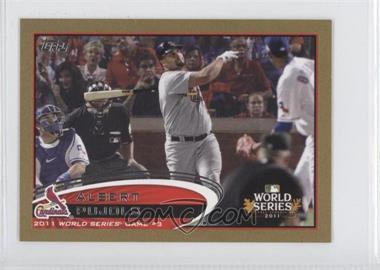 2012 Topps Mini Gold #108 - Albert Pujols /61