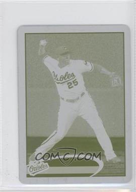 2012 Topps Mini Printing Plate Yellow #121 - Josh Bell /1