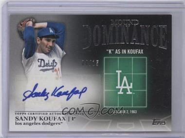 2012 Topps Mound Dominance Certified Autograph [Autographed] #MDA-SK - Sandy Koufax /15