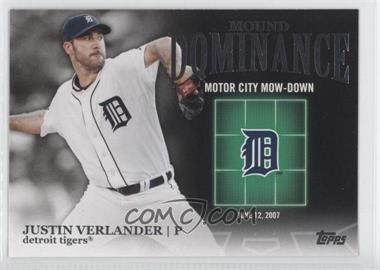 2012 Topps Mound Dominance #MD-2 - Justin Verlander