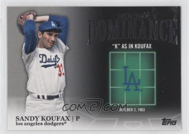 2012 Topps Mound Dominance #MD-3 - Sandy Koufax