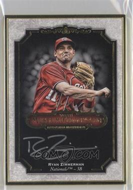 2012 Topps Museum Collection - Framed On-Card Autographs - Gold [Autographed] #MCA-RZ - Ryan Zimmerman /15