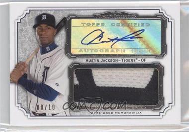 2012 Topps Museum Collection - Momentous Material Jumbo Relic Autographs #MMJAR-AJ - Austin Jackson /10