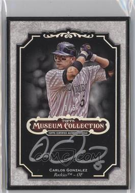 2012 Topps Museum Collection Framed Autographs Black #MCA-CGO - Carlos Gonzalez /5