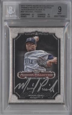 2012 Topps Museum Collection Framed Autographs Silver #MCA-MP - Michael Pineda /10 [BGS 9]