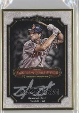 2012 Topps Museum Collection Framed On-Card Autographs Gold [Autographed] #MCA-BB - Brandon Belt /15