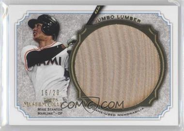 2012 Topps Museum Collection Jumbo Lumber Relics Gold #MMJLR-MS - Giancarlo Stanton /20