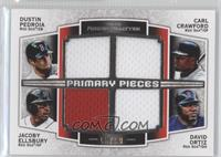 Dustin Pedroia, Carl Crawford, Jacoby Ellsbury, David Ortiz /99