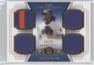 2012 Topps Museum Collection Primary Pieces Quad Relics Gold #PPQR-JR - Jose Reyes /25