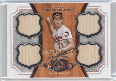 2012 Topps Museum Collection Primary Pieces Quad Relics Legends #PPQRL-LA - Luis Aparicio /25