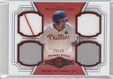 2012 Topps Museum Collection Primary Pieces Quad Relics Red #PPQR-SV - Shane Victorino /75